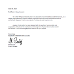 Aquicon Reference Letter